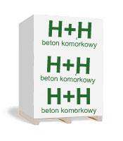 Внешнй вд паллеты газобетона H+H (Н+Н)